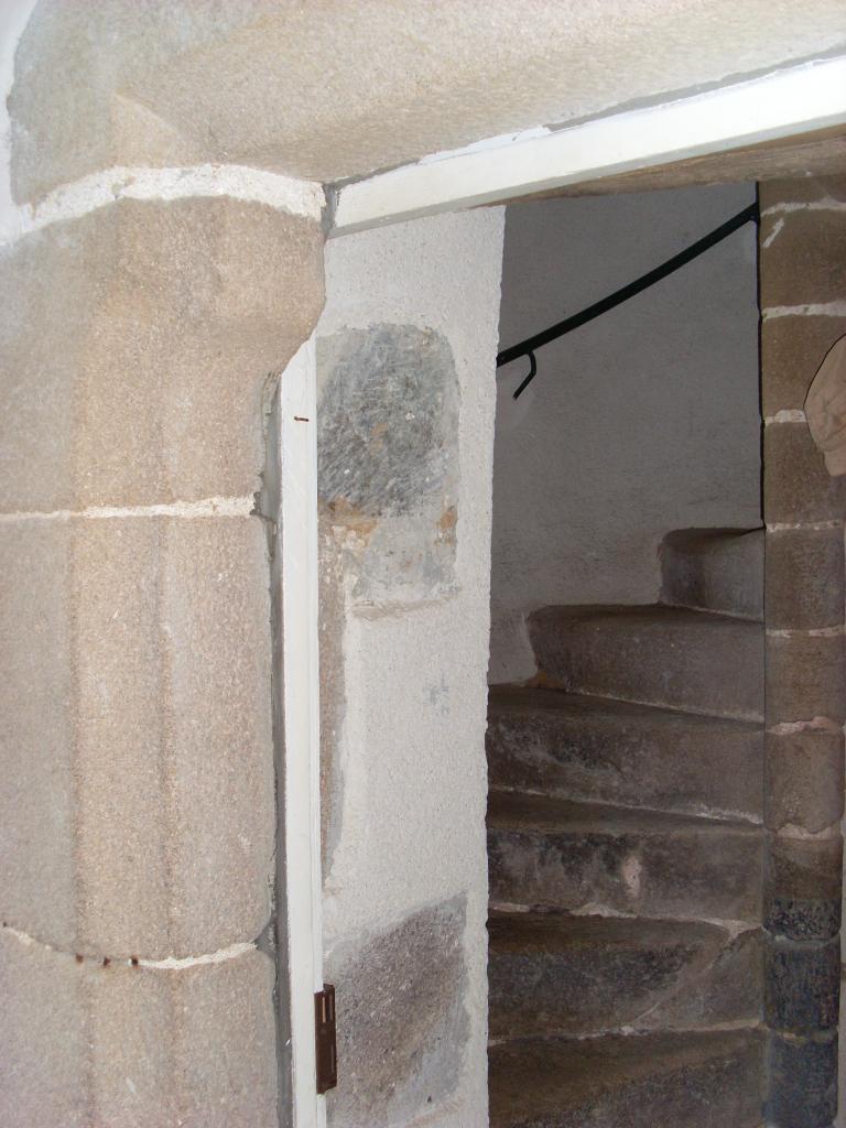 entrée de l'escalier a vis